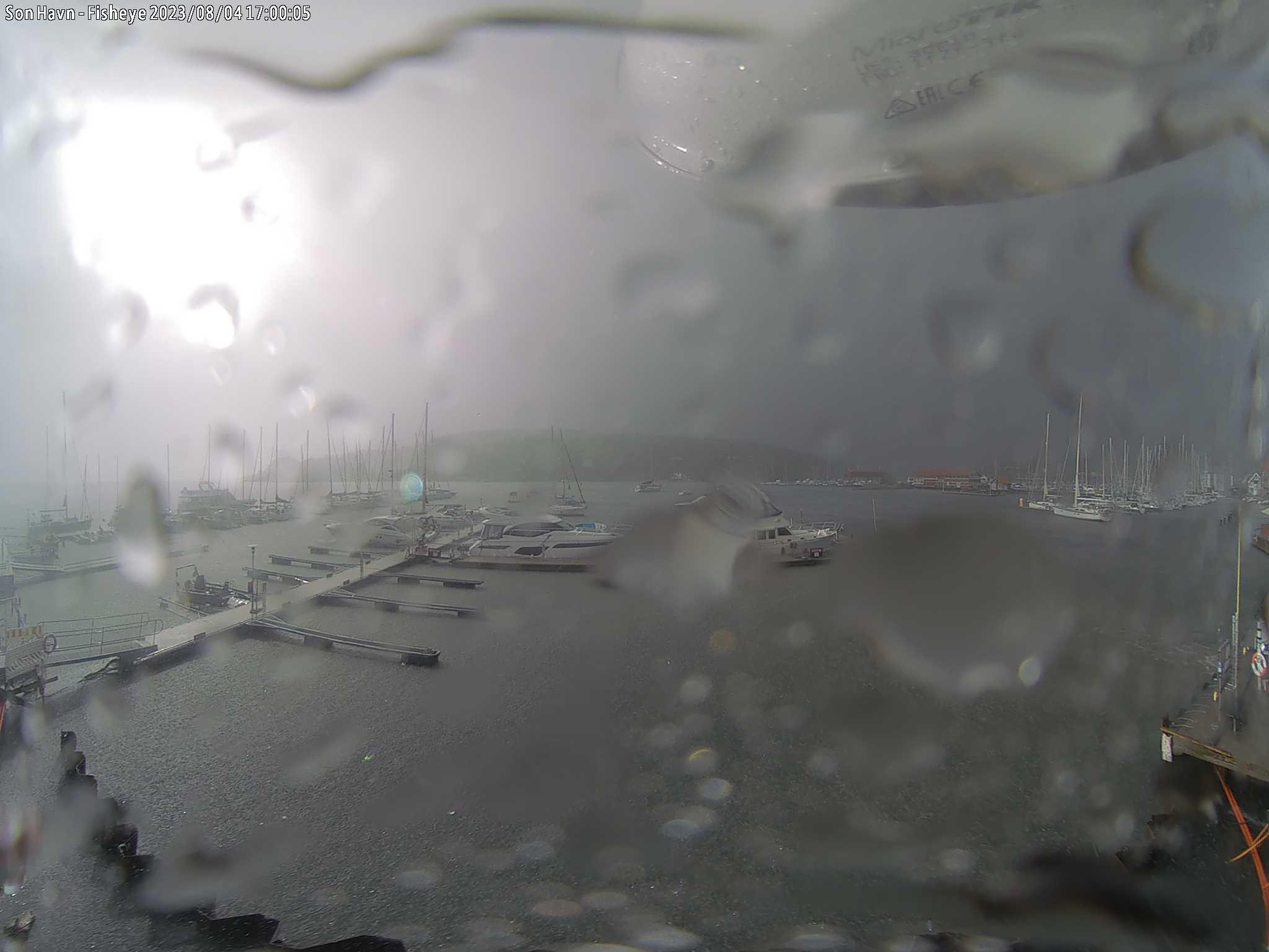Son Gjestehavn - Vidvinkel – gjestehavna sett fra havnelageret